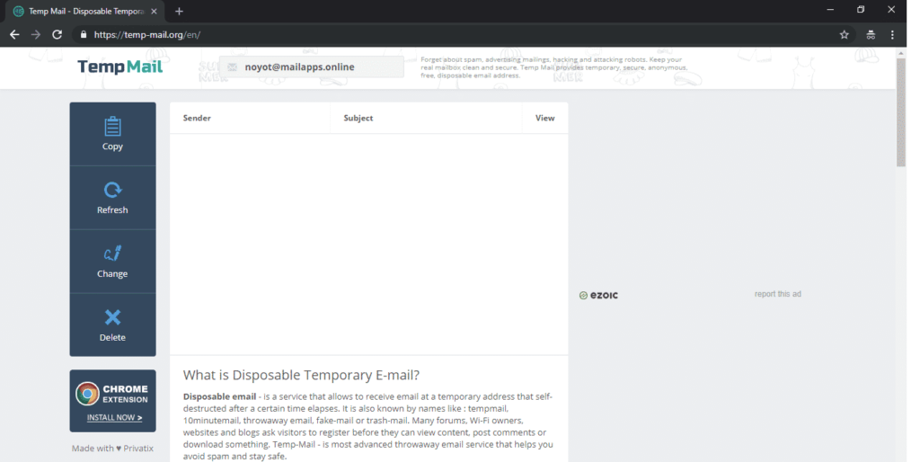 Temp Mail- Temporary Email