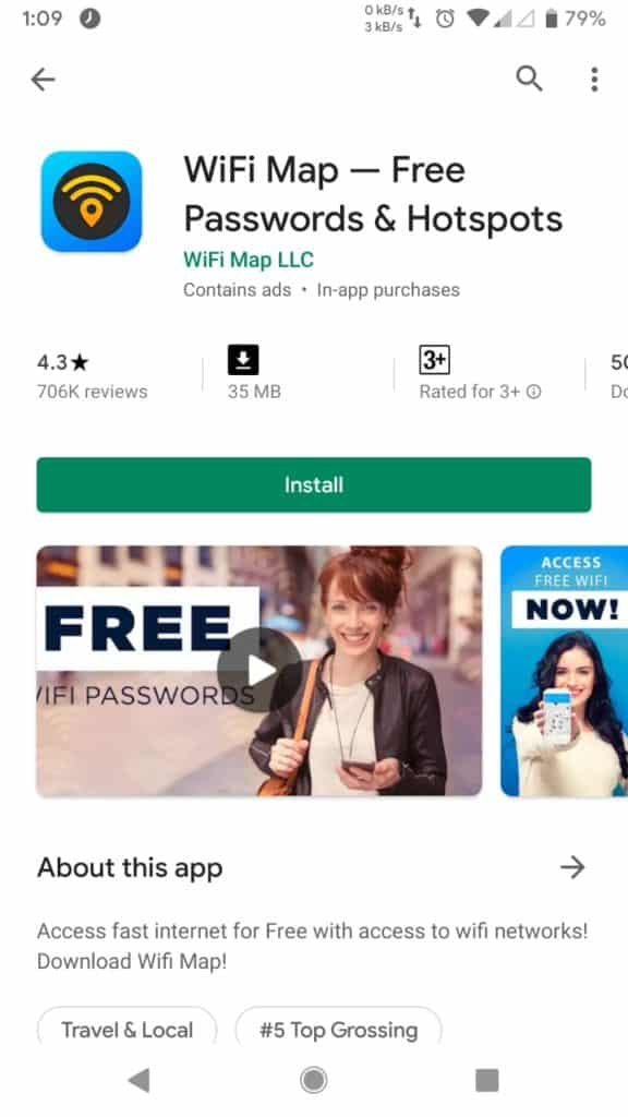 Hack wifi using WiFi Map- hack wifi with android