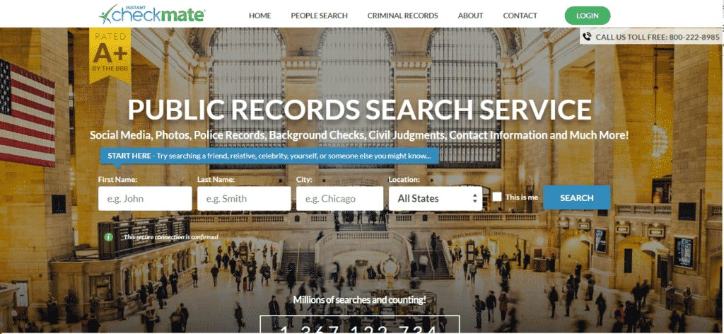 Checkmate- us-based people search website