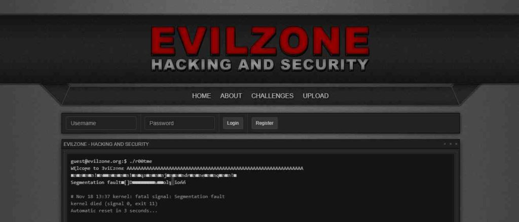 Evil Zone- Websites to Learn Hacking