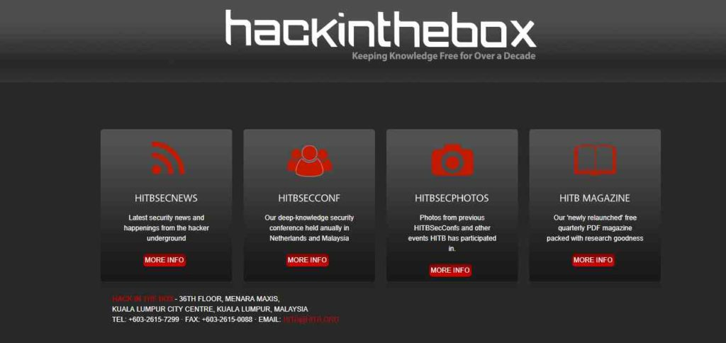 Hack in the Box- Websites to Learn Hacking