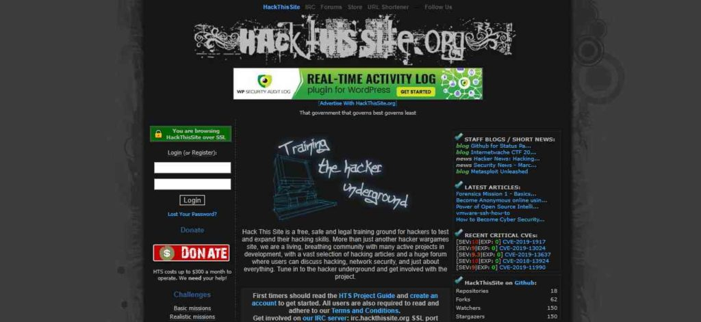 Hack this site- Websites to Learn Hacking