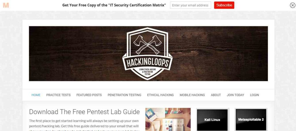 Hacking Loops- Websites to Learn Hacking