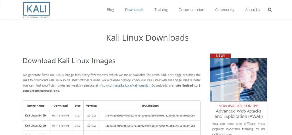 kali linux offensive secuirty