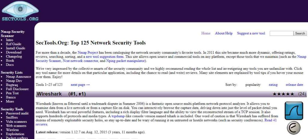 SecTools- Websites to Learn Hacking
