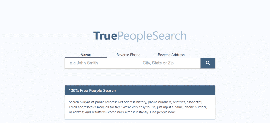 True People Search- us-based people search website