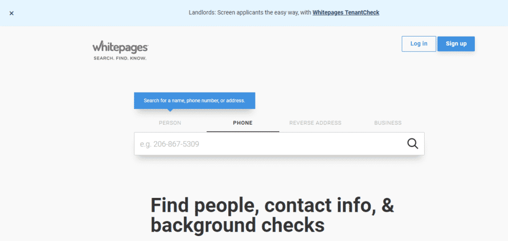 White Pages- get personal information