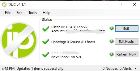 NOIP for Updating dynamic IP