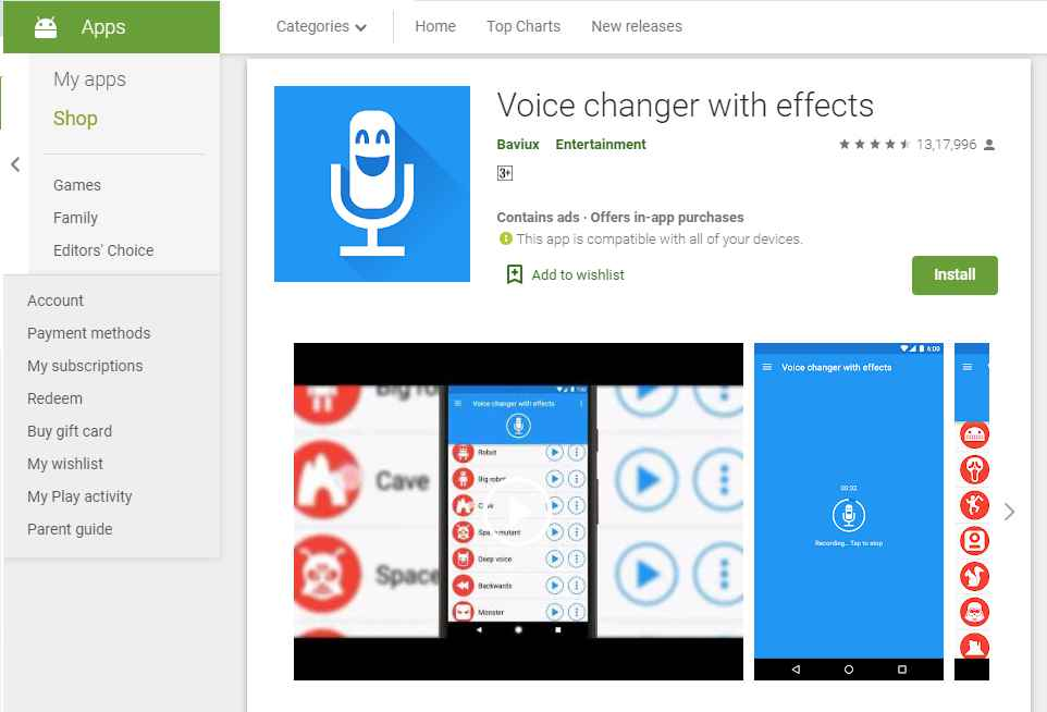 Voice Changer with Effects- spoofing apps