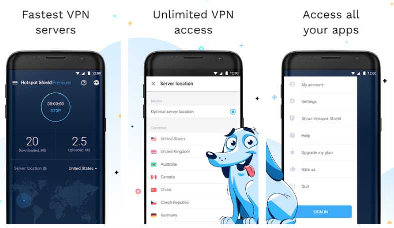Hotspot Shield VPN - applications VPN Android