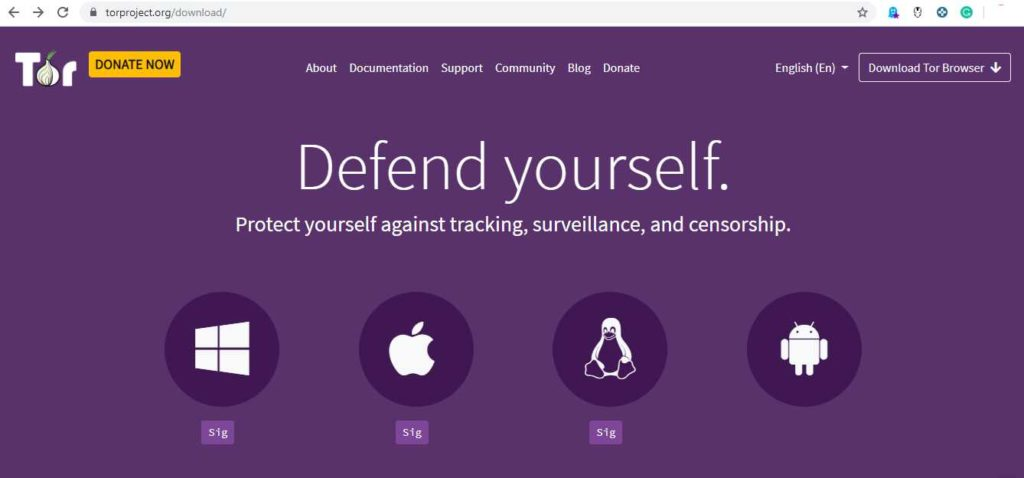 TOR- anonymous browser