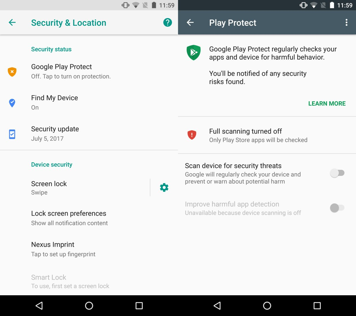 google play security- Prevent yourself from social Engineering and unknown apps